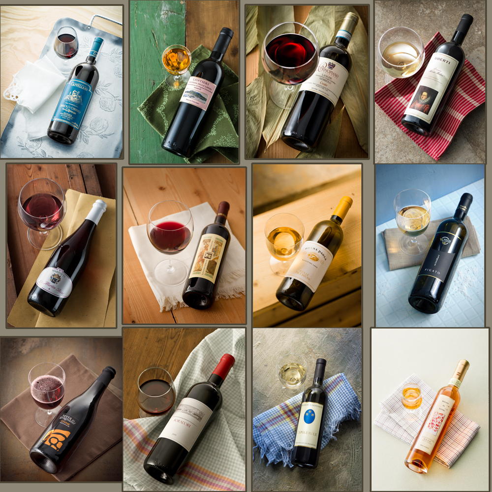 quality wines bottles and glasses